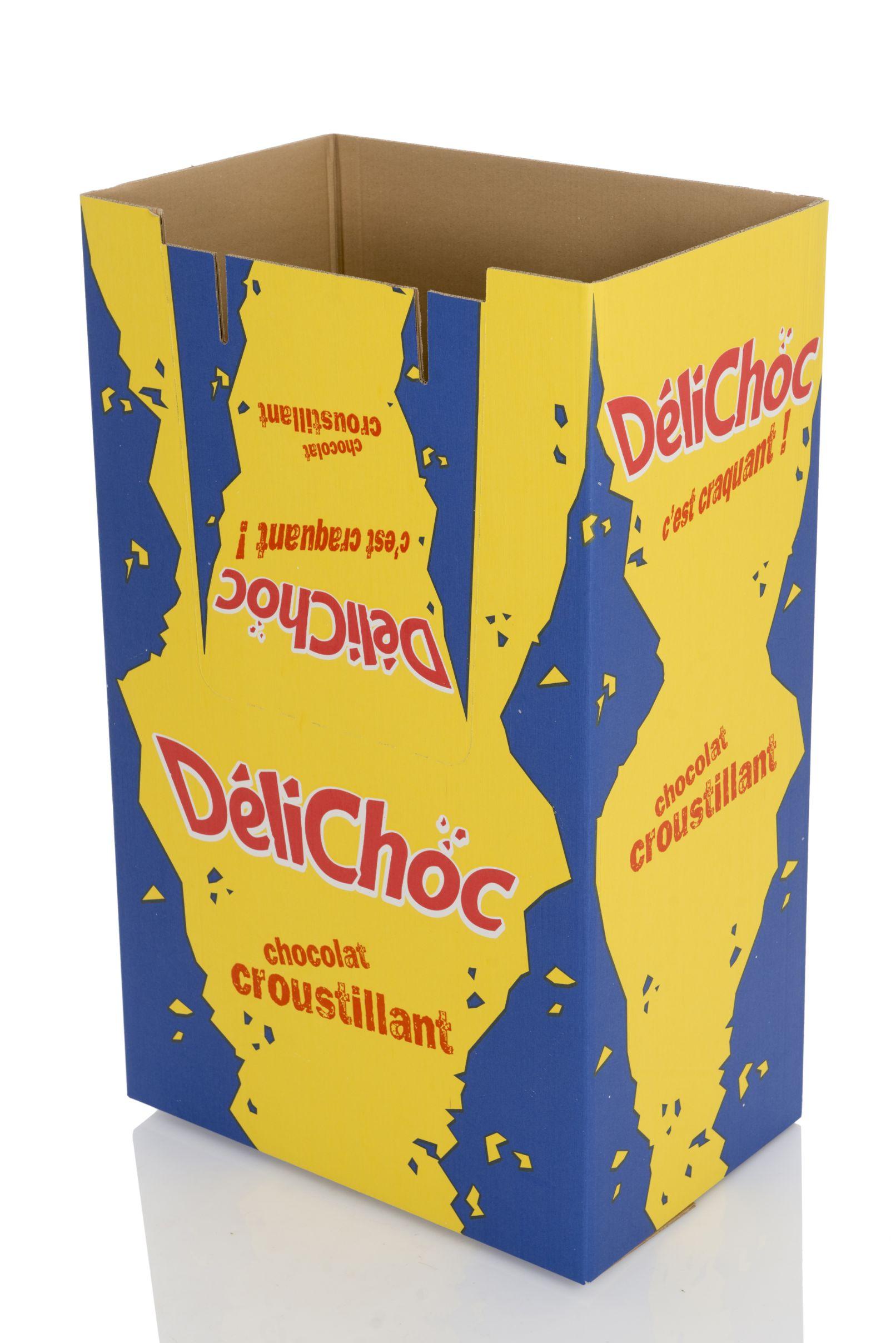 BOX - PRESENTOIR CARTON - FLEXO - DIVERS - 1-4 PALETTE - UNITED BISCUIT DELICHOC COTE