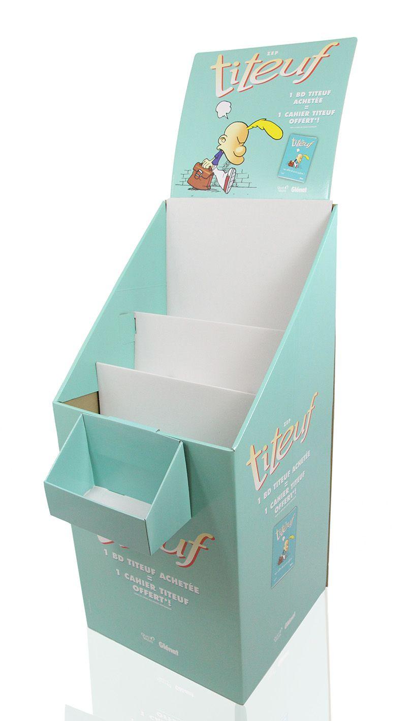 GAMME EDITION - PLV DE SOL - DISPLAY - PRESENTOIR CARTON - BOX - 3 MARCHES - TITEUF - GLENAT