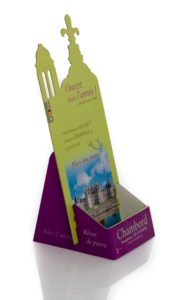 PLV DE COMPTOIR - DISPLAY - PRESENTOIR CARTON - DISTRIBUTEUR DE FLYERS - CHAMBORD COTE