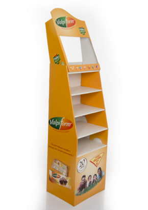 PLV DE SOL - DISPLAY - PRESENTOIR CARTON - A ETAGERES - LNS VALPIFORM COTE