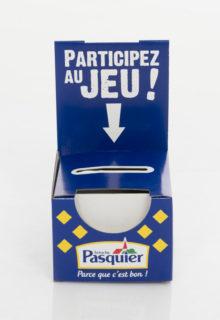 PLV - OUTILS DE COMMUNICATION - CARTON - URNE - PASQUIER - FACE